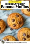Chocolate Chip Paleo Banana Muffins pin graphic