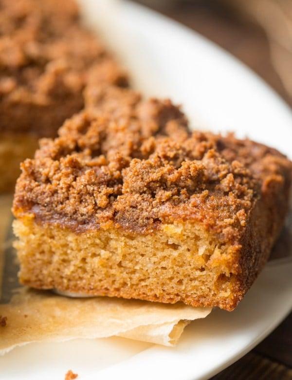 slice paleo coffee cake