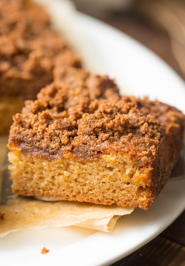 slice paleo coffee cake