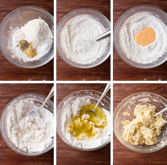 Paleo Biscuits Dough Collage