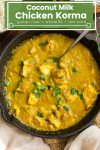 Chicken Korma with coconut milk and cashews