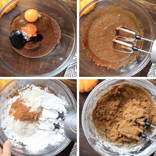 paleo pumpkin cookies collage