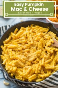 pumpkin mac and cheese pinterest graphic with title