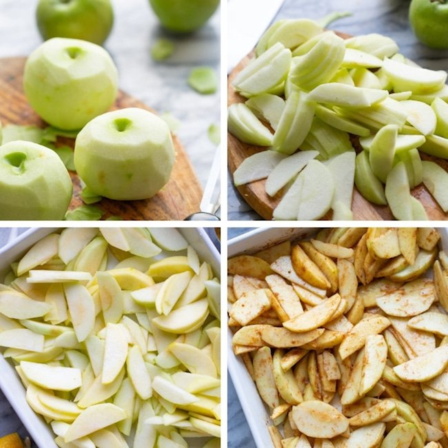 Baked Cinnamon Apples collage