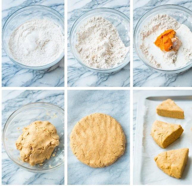 Gluten Free Vegan Pumpkin Scones collage