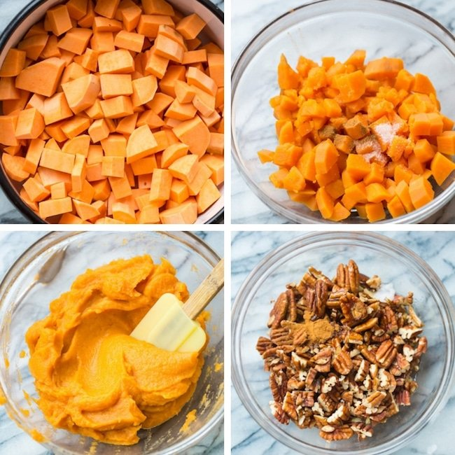 Paleo Sweet Potato Casserole collage