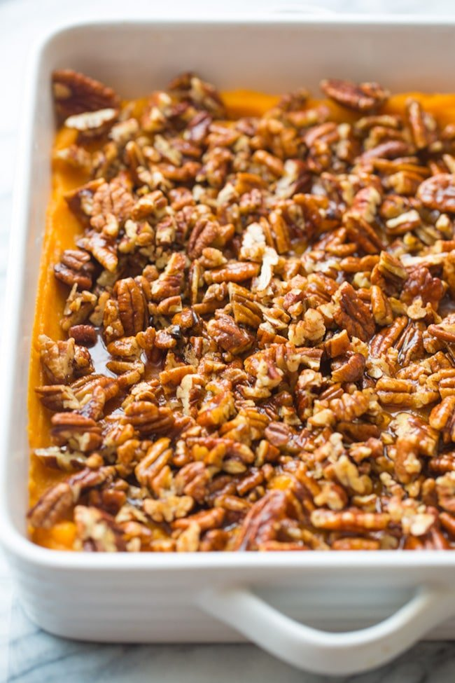 Paleo Sweet Potato Casserole up close