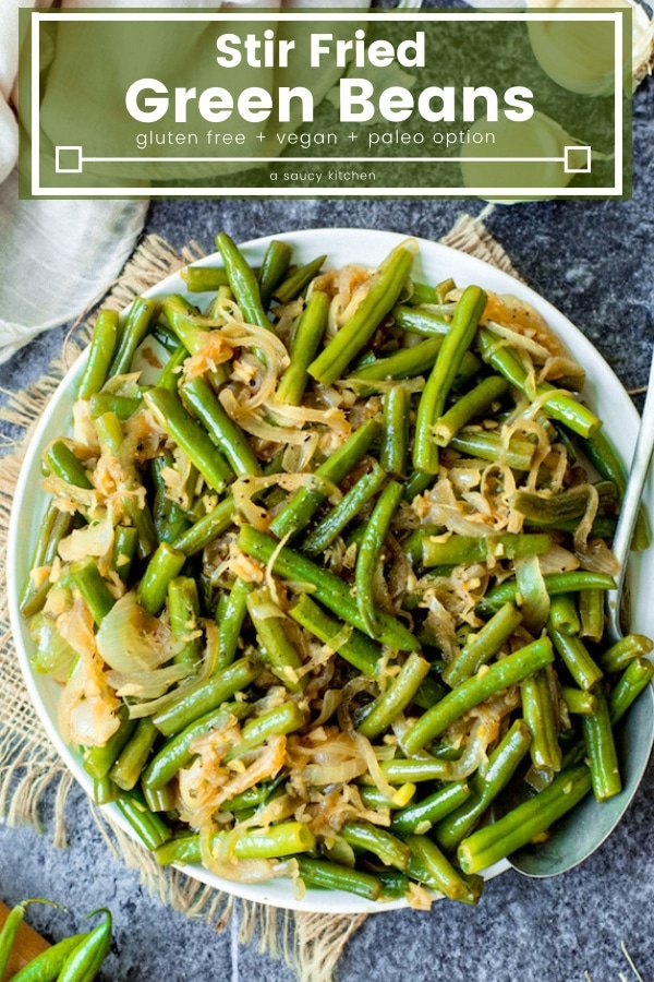 Stir Fried Green Beans pin graphic