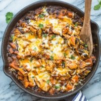 Sweet Potato & Black Bean Enchilada Skillet