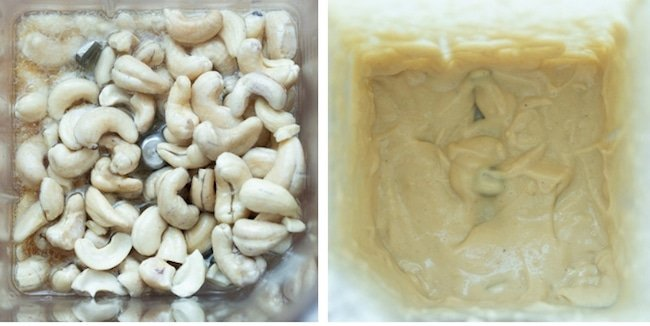 cashew cream collage