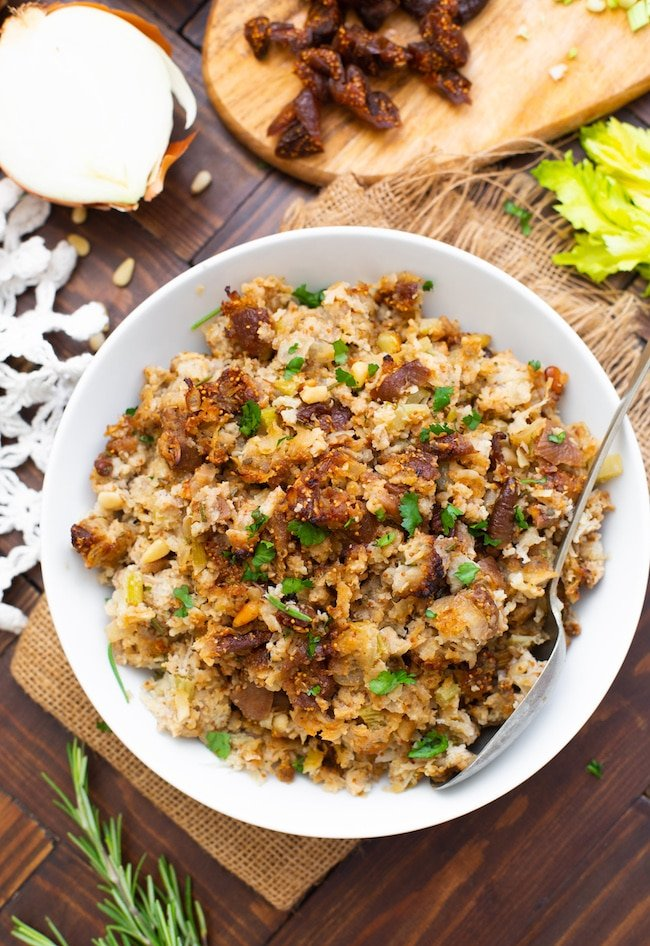 Fig & Sausage Cauliflower Stuffing