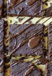 flourless pumpkin brownies drizzle with chocolate