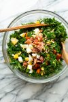 kale sweet potato salad in a mixing bowl