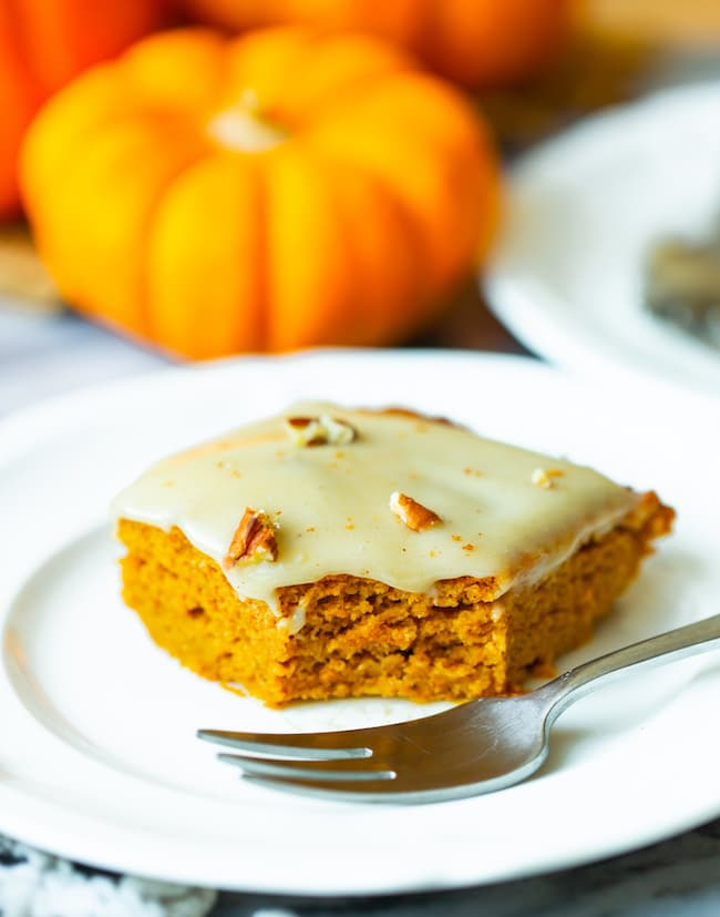 paleo gluten free pumpkin cake slice