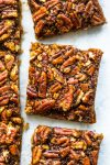 paleo vegan pecan pie bars
