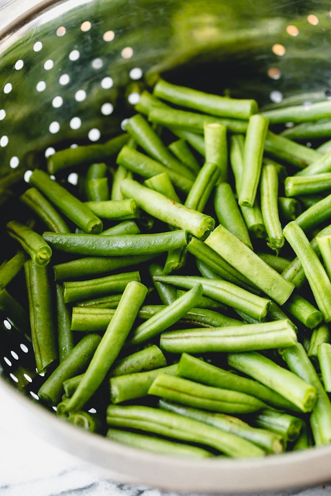 green beans cut into 1 inch pieces