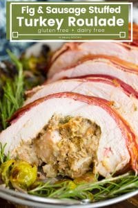 bacon wrapped turkey roulade pin graphic with title