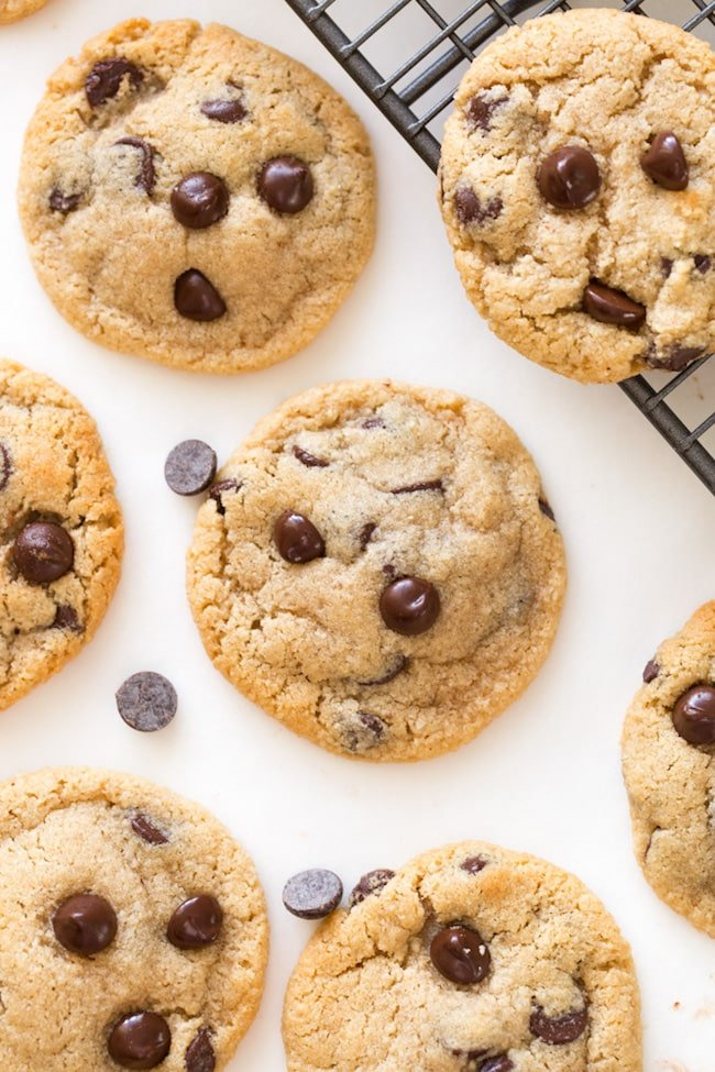 Almond Flour Chocolate Chip Cookies A Saucy Kitchen