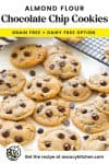 almond flour chocolate chip cookies pin graphic.