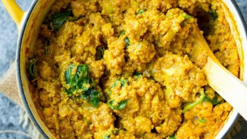 Golden Cauliflower Quinoa Curry