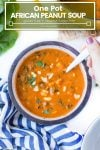One Pot African Peanut Soup Pin graphic