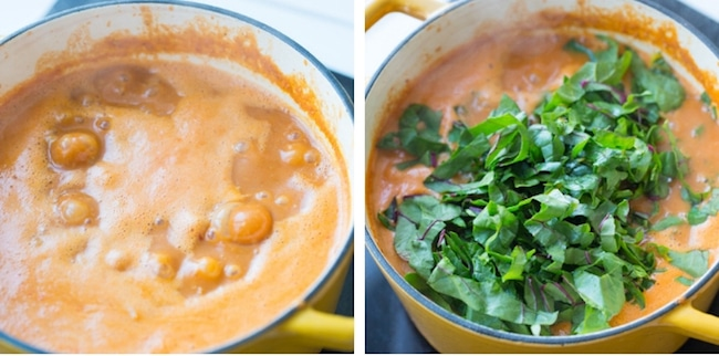 One Pot African Peanut Soup collage 2