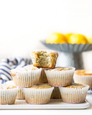 Vegan Lemon Poppy Seed Muffins (Paleo)
