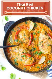 thai red coconut chicken pin graphic