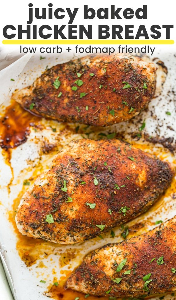 baked chicken breast pin graphic
