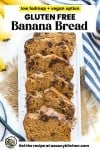 gluten free banana bread pin graphic