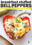 Breakfast Stuffed Bell Peppers pin graphic