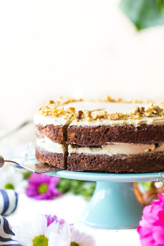 Paleo Carrot Cake with a Cashew Cream Frosting