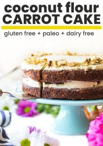 Paleo carrot cake pin graphic