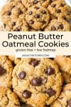 Peanut Butter Oatmeal Cookies pin graphic