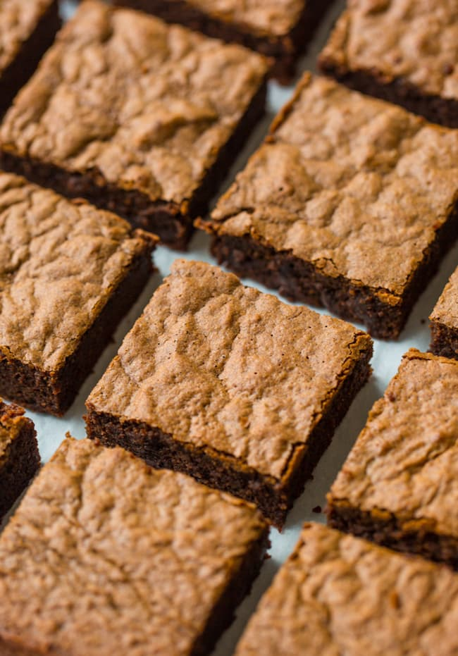 coconut flour brownies cut into squares