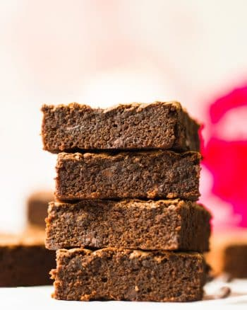 coconut flour brownies stack