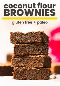 Coconut Flour Brownies pin graphic