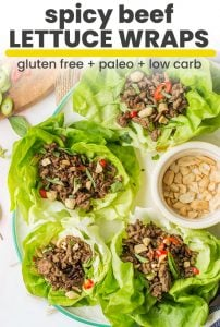 beef lettuce wraps pin graphic