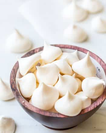 Aquafaba Vegan Meringue in a bowl