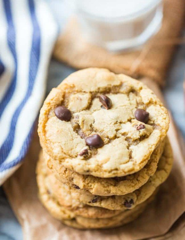 gluten free chocolate chip cookies stack