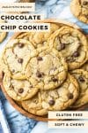 Gluten Free Chocolate Chip Cookies pin graphic