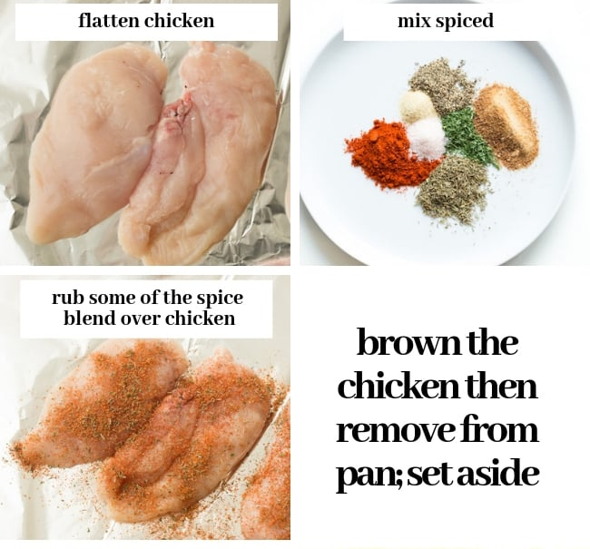chicken and rice - chicken prep collage
