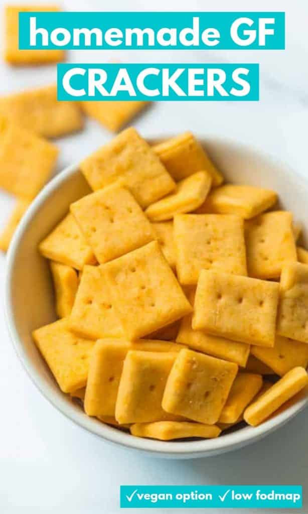 gluten free crackers pin graphic