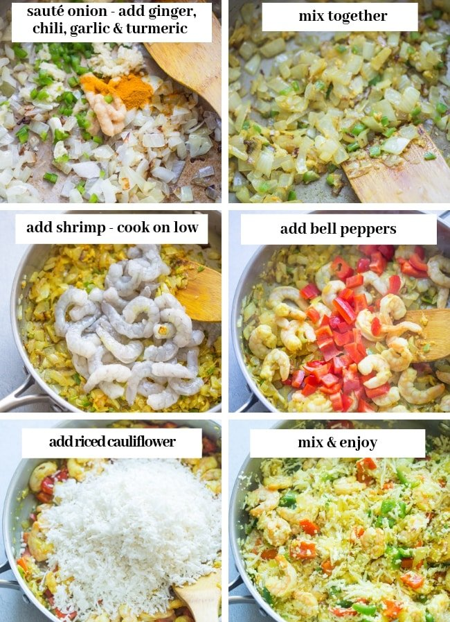 shrimp pulao collage