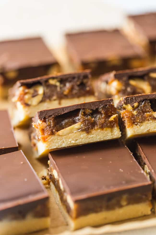 No Bake Vegan Snicker Bars