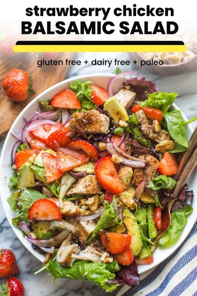 strawberry chicken salad pin graphic