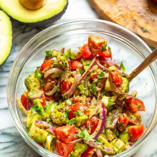 Guacamole Salad in a bowl
