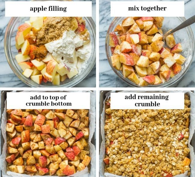 apple crumble bars collage 2