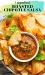 Roasted Chipotle Salsa pin graphic