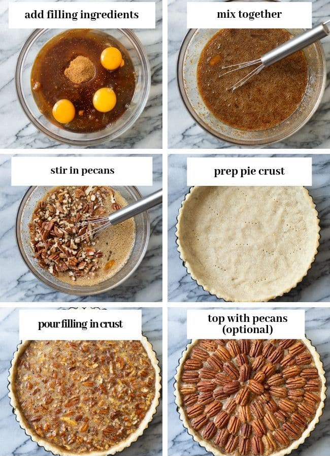 pecan pie collage